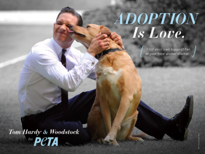 Tom Hardy for Peta